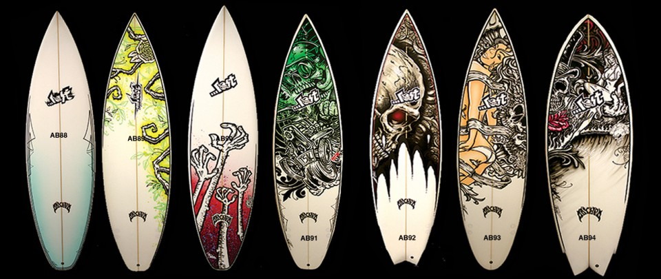 Surfboard Art Lost Surfboards By Mayhem