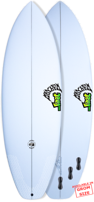 Lost Short Round Surfboard - White - Magicseaweed Surf Shop
